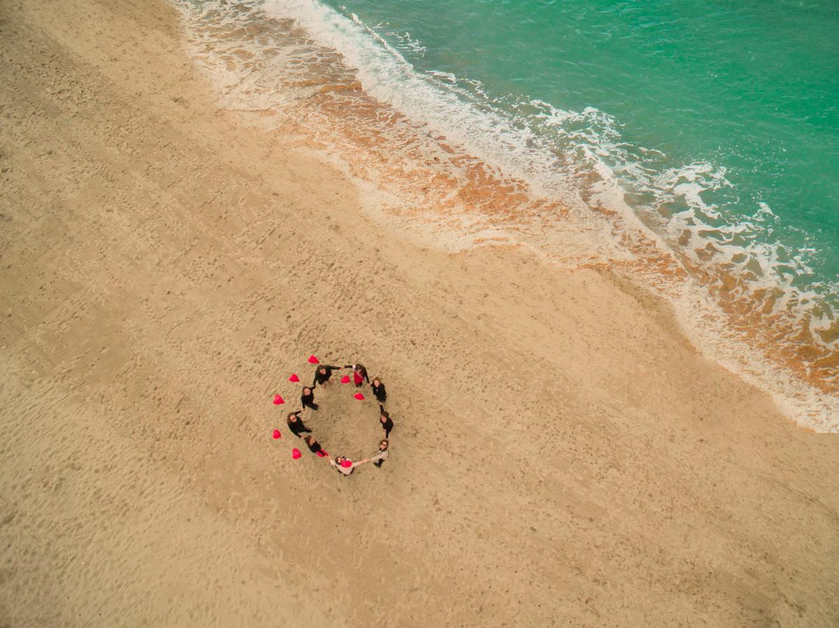 EVJF Le Touquet enterrement de vie de jeune fille photographe séance photo shooting plage