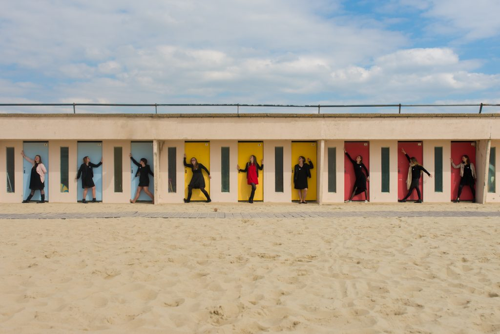 EVJF Le Touquet enterrement de vie de jeune fille photographe séance photo shooting plage