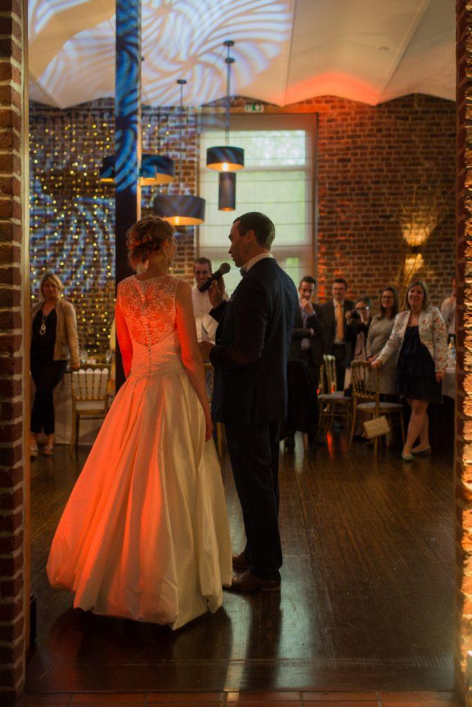 Soirée mariage mariés DJ lumière salle amphytrion