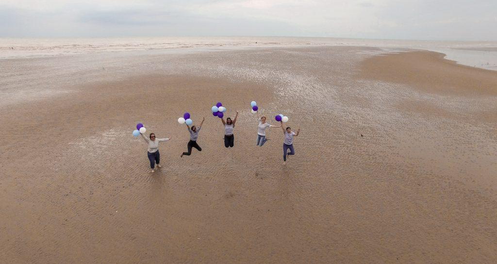 séance photo EVJF Touquet photographe plage enterrement de vie de jeune fille lille nord drone
