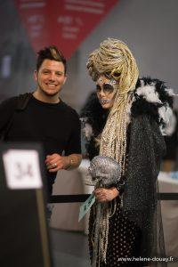 21ème Concours Michel Dervyn tout en tresses hairstyle défilé lille grand palais coiffure coiffeur shampoo alexandre de paris vog mannequin