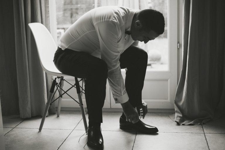 chaussures mariés préparatifs