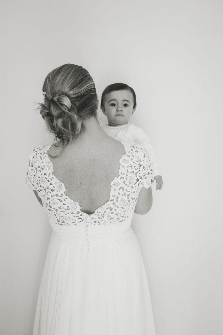 Mariée et son bébé