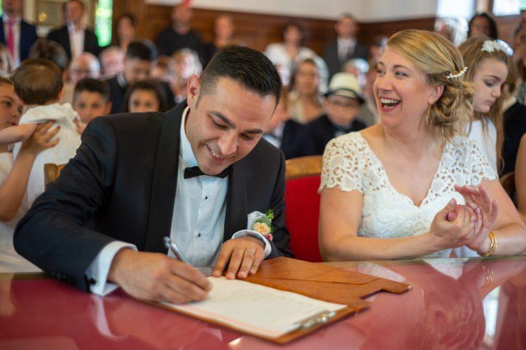 signature registre mariage civil mairie