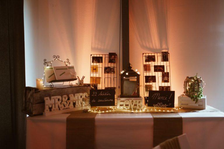décoration mariage champêtre table