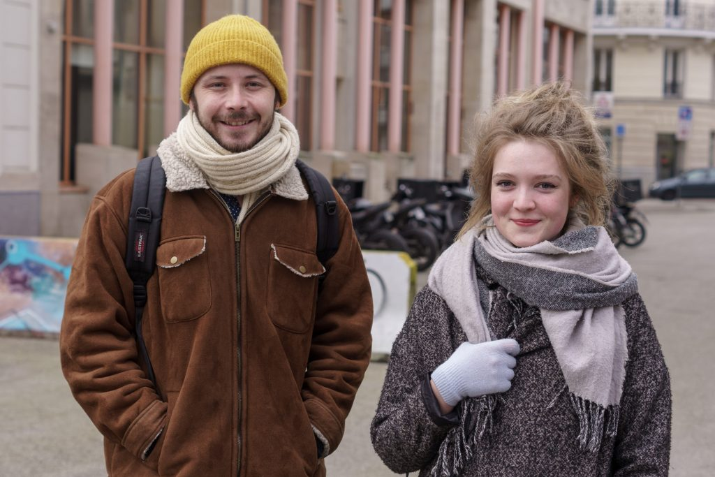 Portrait Lille photographe Lillois Lilloise couple centre ville rue de béthune