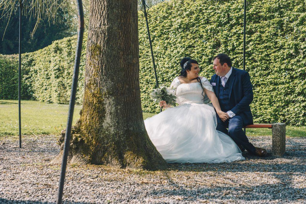 photographe mariage château estaimpuis parc