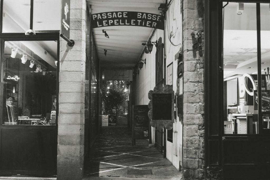 passage basse lepelletier vieux lille rue piétonne