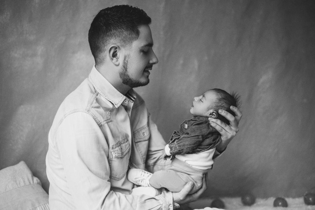 photo bébé papa