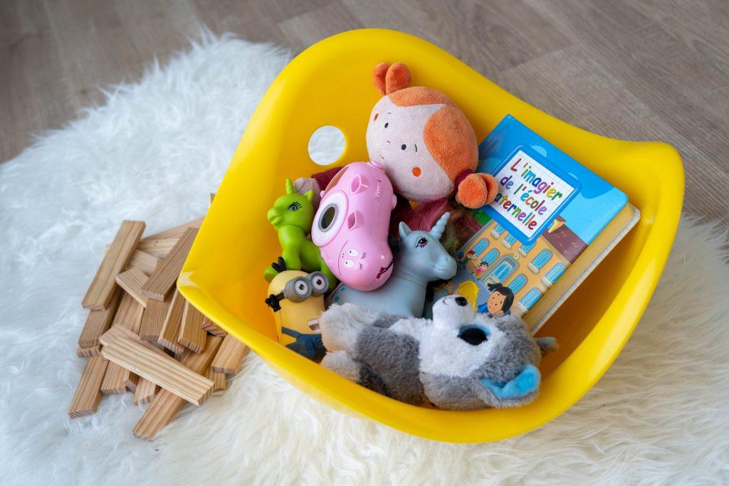 photographe enfant studio jouets