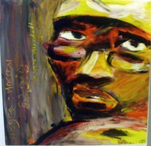 portrait peinture jacky neg marrons