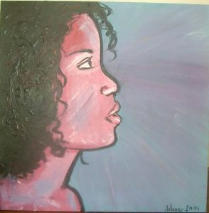 portrait peinture lura