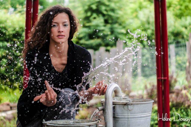 eau goutte portrait femme extérieur
