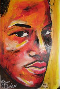 portrait peinture cap vert eder