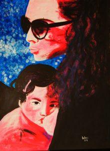 portrait peinture allaitement