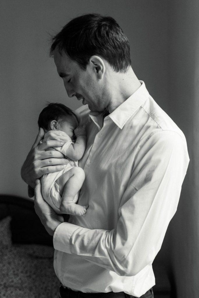 photos bébé papa domicile