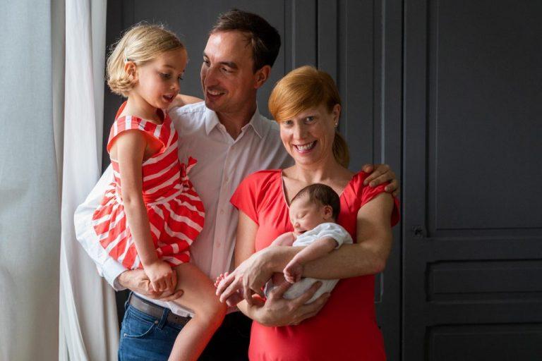 photographie bébé famille domicile
