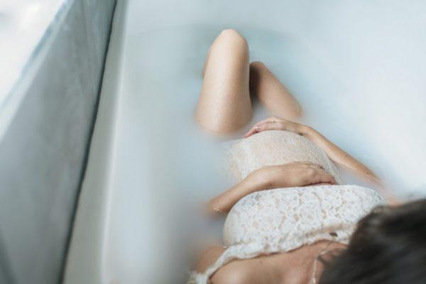 milk bath grossesse