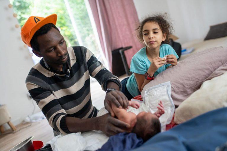 père naissance bébé