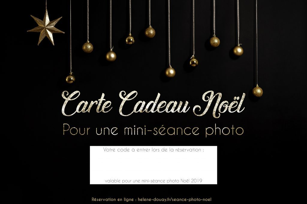 Carte cadeau mini séance photo Noël