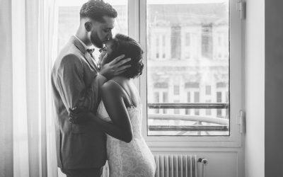 photographe mariage lille hôtel chambre fenêtre noce